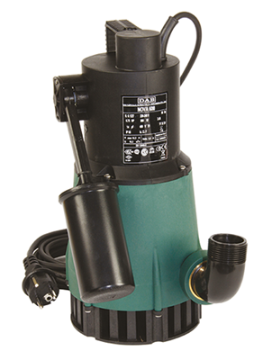 Bomba sumergible portatil de desagote pluvial NOVA 600